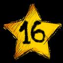 16 stars