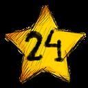 24 stars